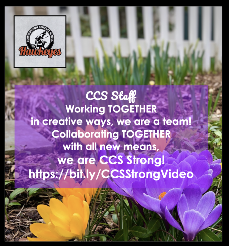 CCS English Teacher Creates CCS Strong Video