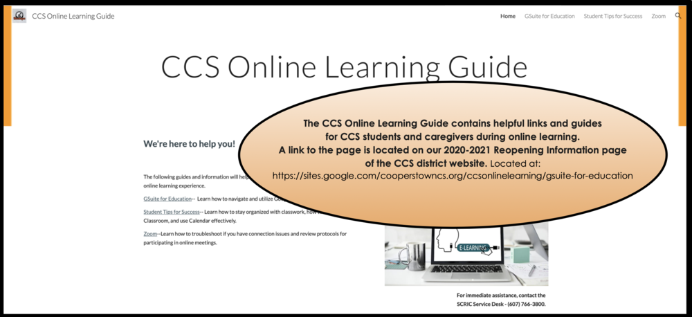 CCS Online Learning Guide for Students & Families