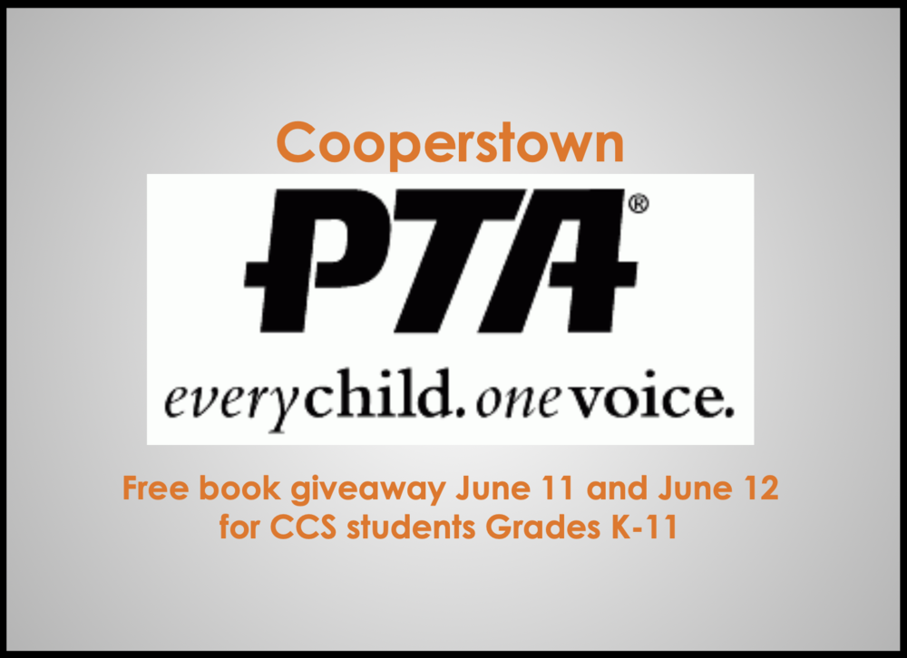 Coperstown PTA Funds New Book for Every CCS Student K-11