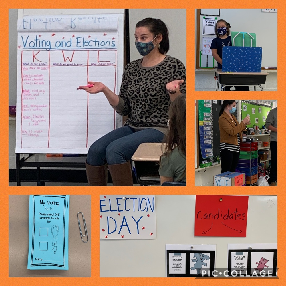 CCS Teaching Assistant Leads 2nd Grade Students in Democracy Lesson & Voting
