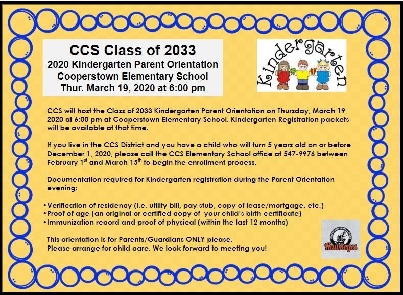 CCS to host Class of 2033 Kindergarten Parent Orientation