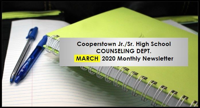 March 2020 Issue of CCS Jr./Sr. High Counseling Newsletter