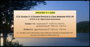 UPDATED Information for Device and Materials Pick-Up