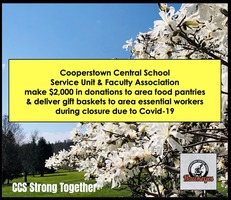 CCS Service Unit & CCS Faculty Assoc. Make Donations