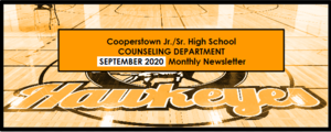 September 2020 Newsletter - CCS Jr./Sr. High Counseling Dept.