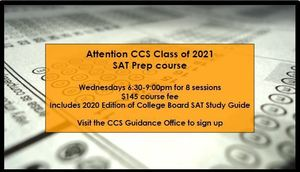 CCS SAT Prep Course for Class of 2021