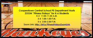 CCS Elementary PE Teachers Offer ZOOM Fitness Fridays