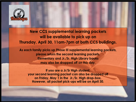CCS Supplemental Learning Packet Drop-off/Pick-up April 30th
