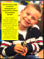 Notify CCS If You Have a Kindergarten Student for Fall 2020