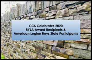 CCS Celebrates 2020 RYLA & Boys State Recipients