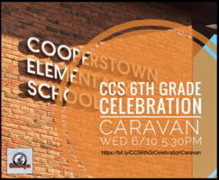 CCS 6th Grade Celebration Caravan - Wed. 6/10 5:30pm