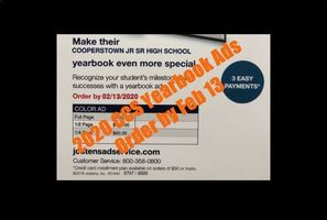 CCS 2020 Yearbook Ads Available
