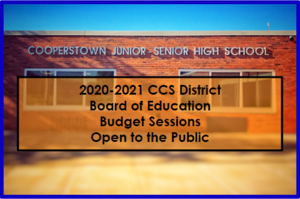 BOE Budget Sessions Open to the Public