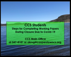 CCS Students - Steps to Completing Working Papers