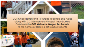 CCS K & 1st Grade Students Welcome Wagon Bus Parade