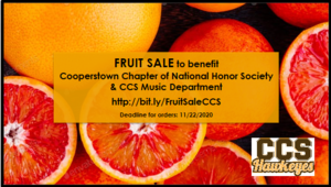 CCS Fruit Sale to Benefit National Honor Society and Music Department