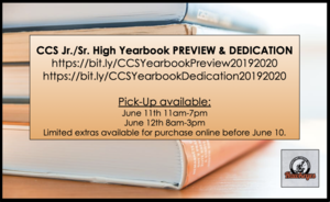 CCS Jr./Sr. High Yearbook Dedication & Preview Video