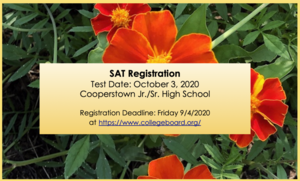 SAT Registration Open for October 3 Exam