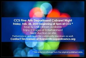 CCS Fine Arts Dept Cabaret Night - Fri. 2/28 at 5pm