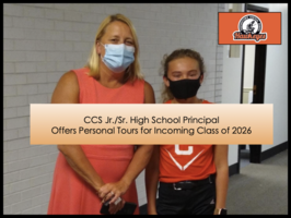 CCS Jr./Sr. High Principal Offers Personal Tours to Class of 2026