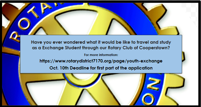 Rotary Exchange info