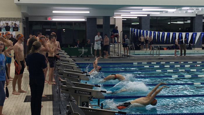 Coop swimmers taking off.