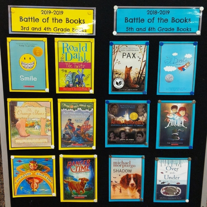 2019 Battle of the Books Lists