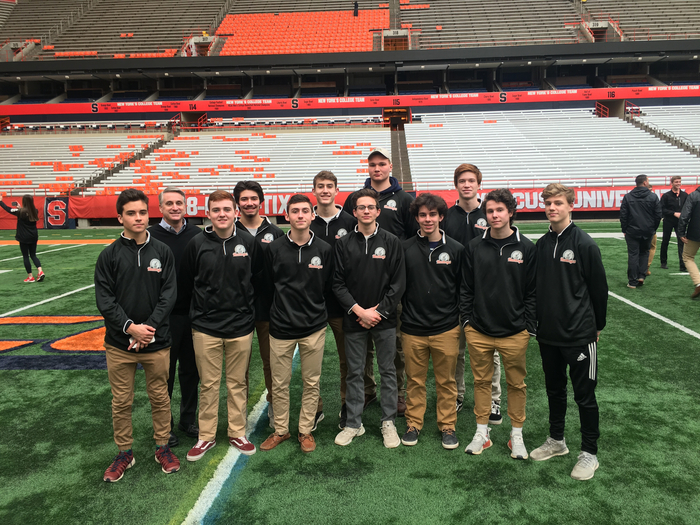 Boys Basketball Team at the Carrier Dome
