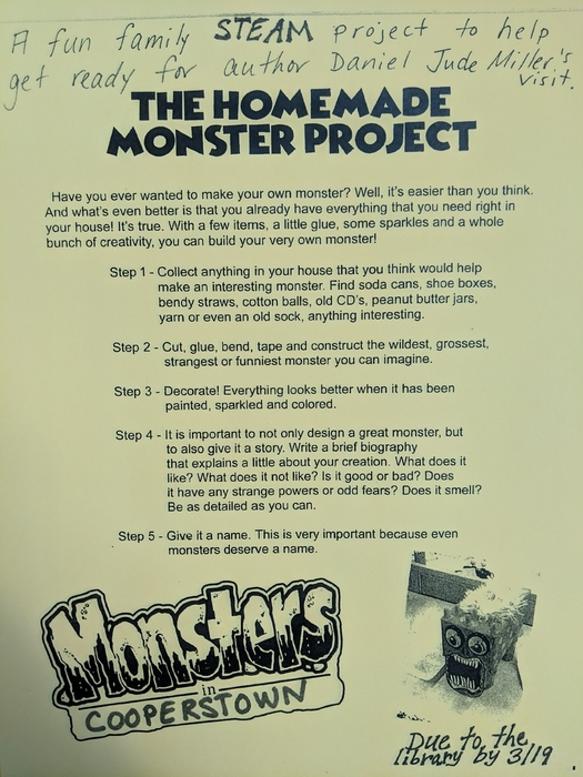 Homemade Monster Project