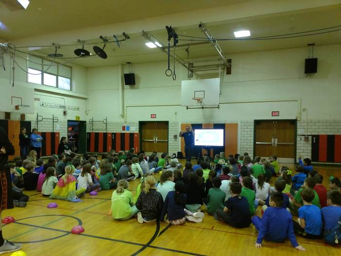 CCS Elementary students learning about internet safety.