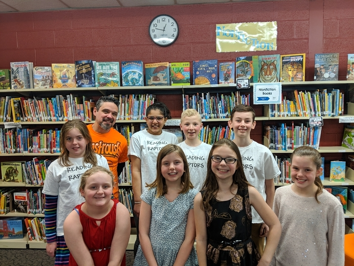 Daniel Jude Miller had lunch with the Battle of the Books champions.