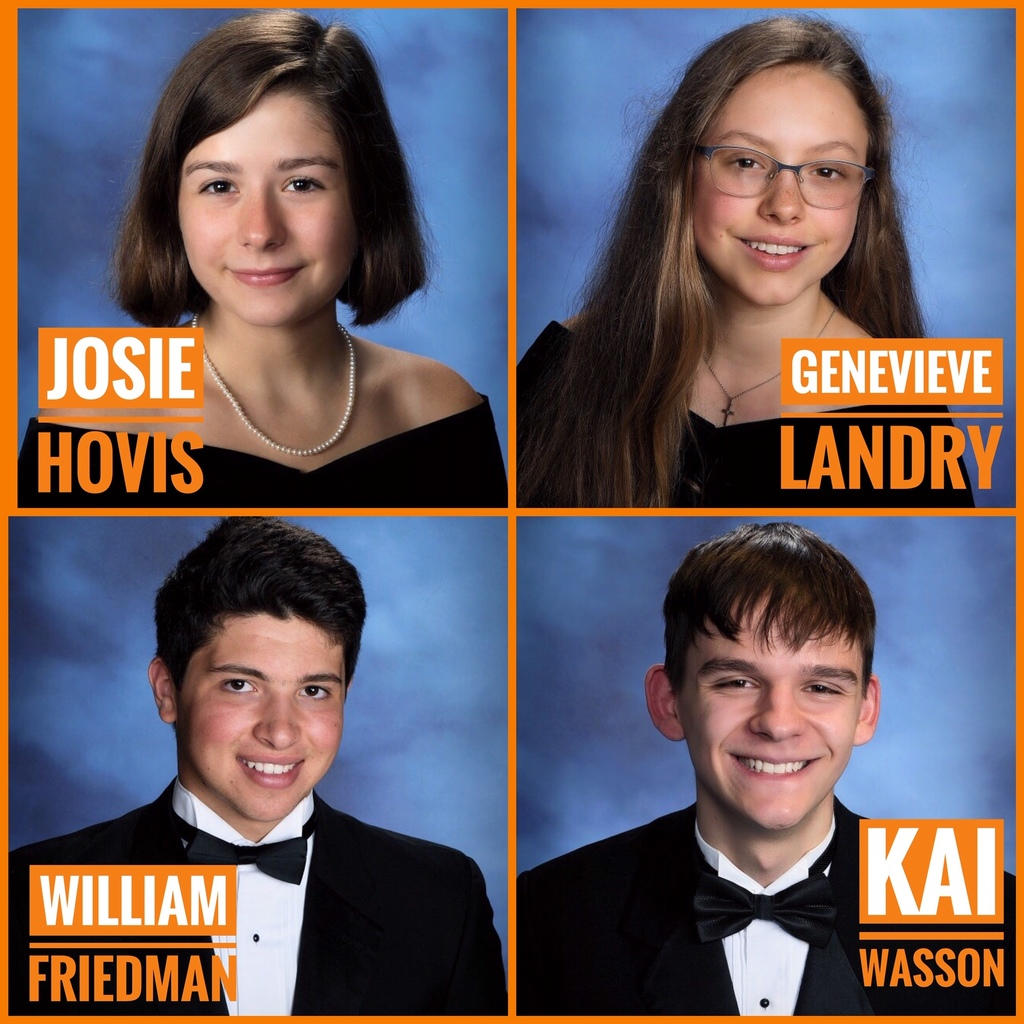 Top four graduating scholars from the CCS Class of 2019