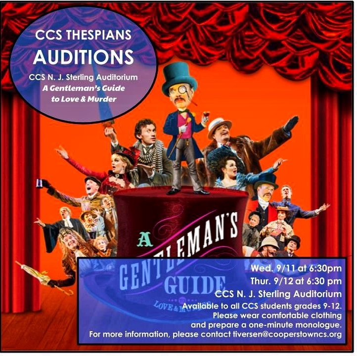 CCS Fall 2019 Sr. HS Musical Auditions