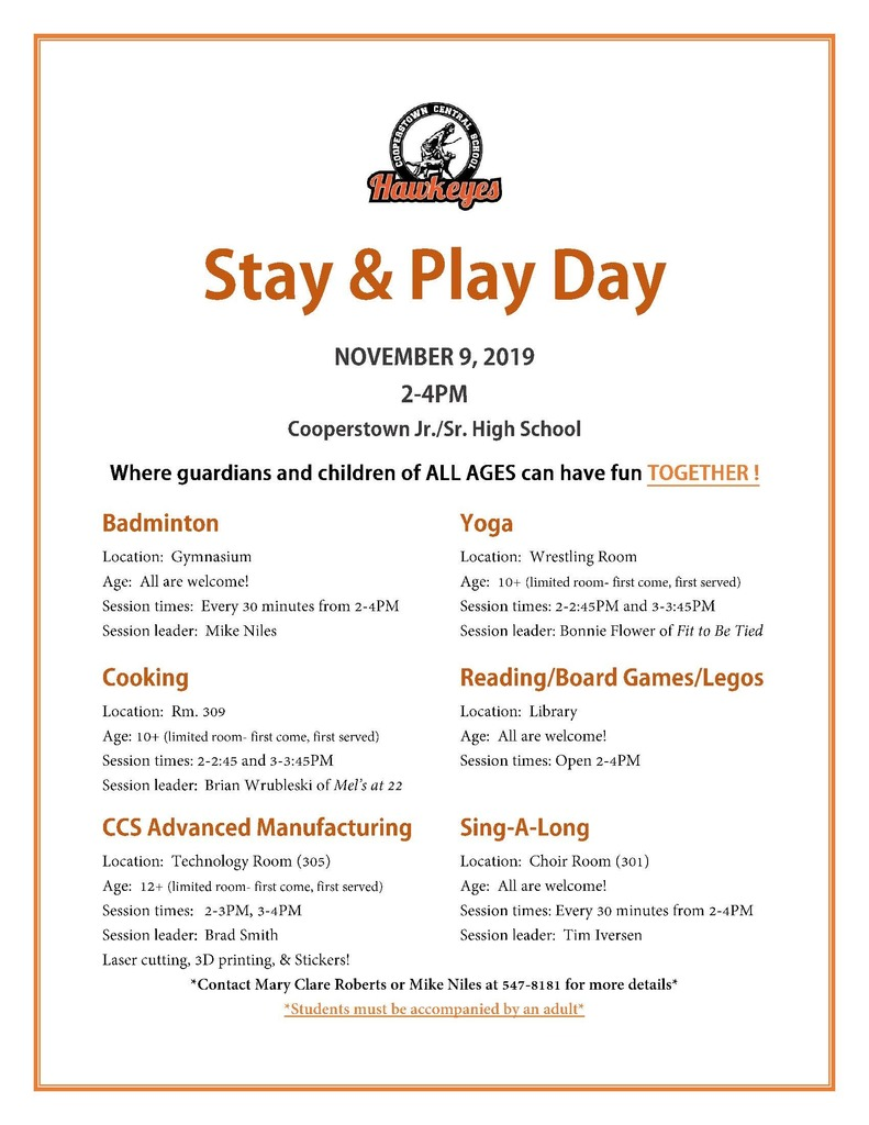 Stay & Play Day