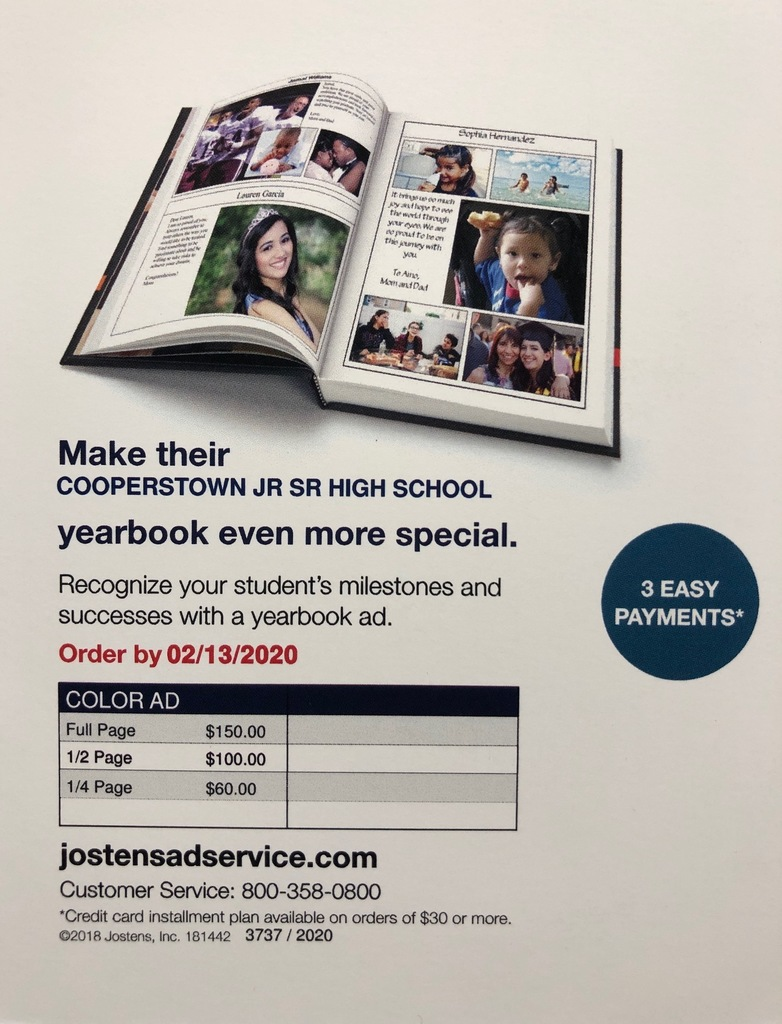 CCS Yearbook Ad